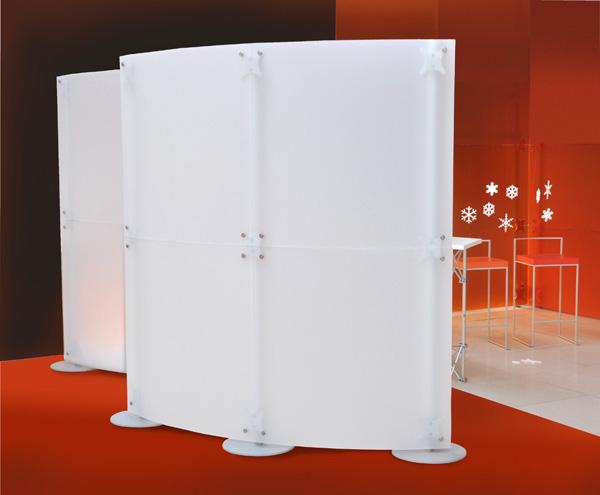 Cloisons de separation pour stands cloisons mobiles paxton for Cloison stand salon