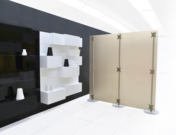 Cloisons mobiles pour magasins separations pour magasins - Divisori per ambienti interni ...